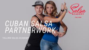 Cuban salsa partnerwork